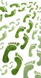 ecofotspår Arkivbild
