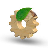 Ecofriendly industry and environment preservation concept. 3D illustration Stock Image