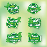 Ecogreen product labels. Ecogreen product label vector in different kind of type Royalty Free Stock Image