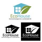 EcoHouse_logo Foto de archivo libre de regalías
