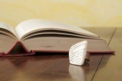 Ecojewelry literary ring Stock Photo