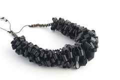 Ecojewelry necklace from  bicycle inner tube Royalty Free Stock Photography
