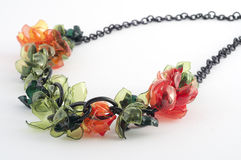 Ecojewelry necklace from recycled plastic bottles Royalty Free Stock Image