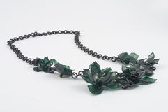 Ecojewelry necklace from recycled plastic bottles Stock Photography