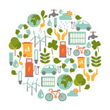 Ecokaart Royalty-vrije Stock Foto's