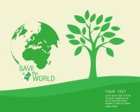 Ecológico e salvar o verde do mundo Fotografia de Stock Royalty Free