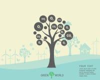 Ecológico e salvar o verde do mundo Imagens de Stock Royalty Free