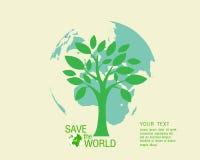 Ecológico y ahorre el verde del mundo Fotografía de archivo libre de regalías