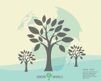 Ecológico y ahorre el verde del mundo Fotografía de archivo