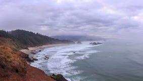 Ecola国家公园,大炮海滩,俄勒冈,美国 库存照片