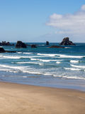 Ecola beach waves. On sunny summer day stock image