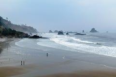 Ecola stanu park - indianin plaża zdjęcia royalty free