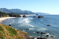 Ecola state park, Oregon coast & Pacific ocean. Royalty Free Stock Photo