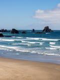 Ecola strandvågor Fotografering för Bildbyråer