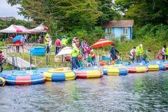 Ecoland, 2017年10月5日的一个著名主题乐园在济州海岛 免版税库存照片