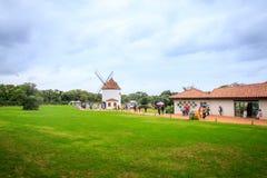 Ecoland, 2017年10月5日的一个著名主题乐园在济州海岛 免版税图库摄影