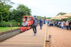 Ecoland, 2017年10月5日的一个著名主题乐园在济州海岛 库存照片
