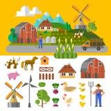 Ecolandbouwbedrijf Stock Foto's