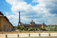The Ecole Militaire in Paris, France. Royalty Free Stock Photos