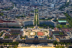 The Ecole Militaire in Paris, France. Royalty Free Stock Images