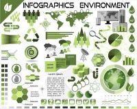 Ecología EPS10 del ambiente de Infographics Fotos de archivo