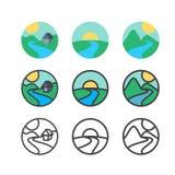 Ecología Logo Template Fotografía de archivo