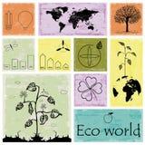 Ecología, reciclando la colección de los gráficos del Info ilustración del vector