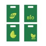 Ecología, sistema orgánico del icono. Eco-iconos Imagenes de archivo