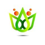 Ecología vegetal del ambiente del eco del vector de la hoja de la naturaleza Imagen de archivo libre de regalías