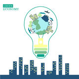 Ecología verde Imagen de archivo