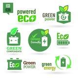Ecología - verde - sistema renovable del icono Imagen de archivo