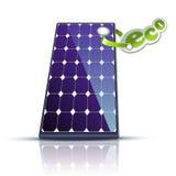 Ecología vertical del sol del panel Fotos de archivo libres de regalías