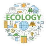 Ecología y ejemplo del concepto del ambiente Imágenes de archivo libres de regalías