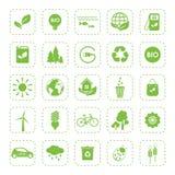 Ecologia Ícones verdes do eco do vetor ajustados Imagem de Stock Royalty Free