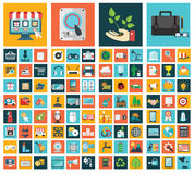 Ecologia, affare, acquisto e tecnologia Immagini Stock Libere da Diritti