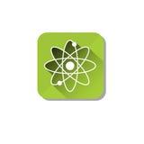 Ecologia Atom Icon di energia atomica Fotografia Stock