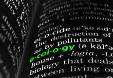 Ecologia definita sul nero Immagini Stock