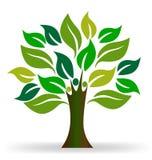 Ecologia della gente dell'albero illustrazione di stock