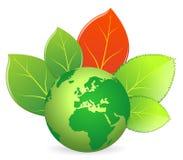 Ecologia della terra verde Immagini Stock Libere da Diritti