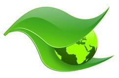 Ecologia della terra verde Fotografie Stock Libere da Diritti