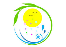 Ecologia di logo Fotografie Stock