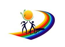 Ecologia di logo Immagine Stock