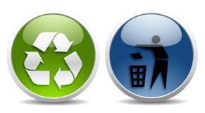 Ecologia e sinais do recicl Fotografia de Stock Royalty Free