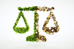 Ecologia ed affare Immagine Stock