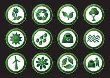 Ecologia ed icone di riciclaggio Immagini Stock