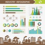 Ecologia ed illustrazione astratta di infographics di inquinamento Immagini Stock