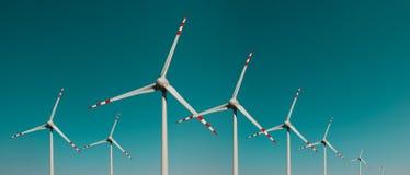 Ecologia - generatori eolici - immagine fotografia stock