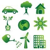 Ecologia - icone Fotografia Stock
