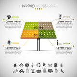 Ecologia infographic Fotos de Stock Royalty Free