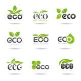 Ecologia, insieme dell'icona. Eco-icone Fotografie Stock Libere da Diritti